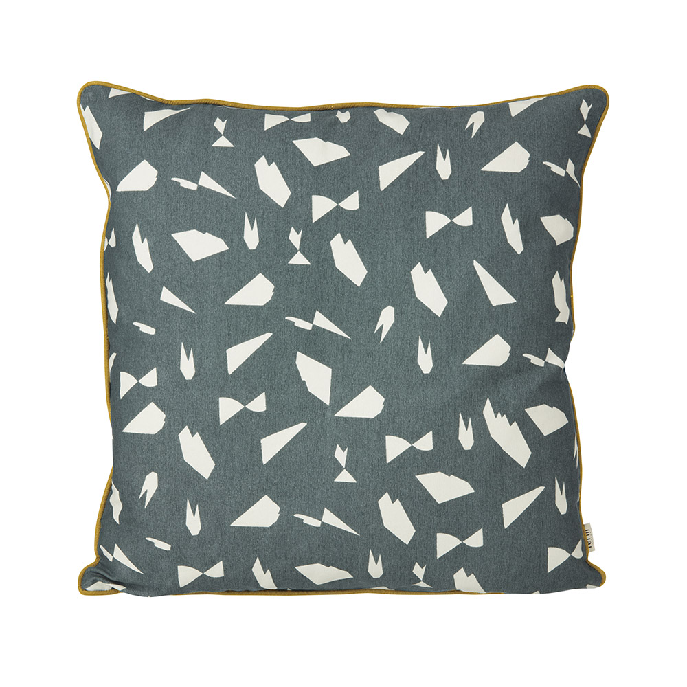 coussin mini cut bleu gris ferm living pour chambre. Black Bedroom Furniture Sets. Home Design Ideas