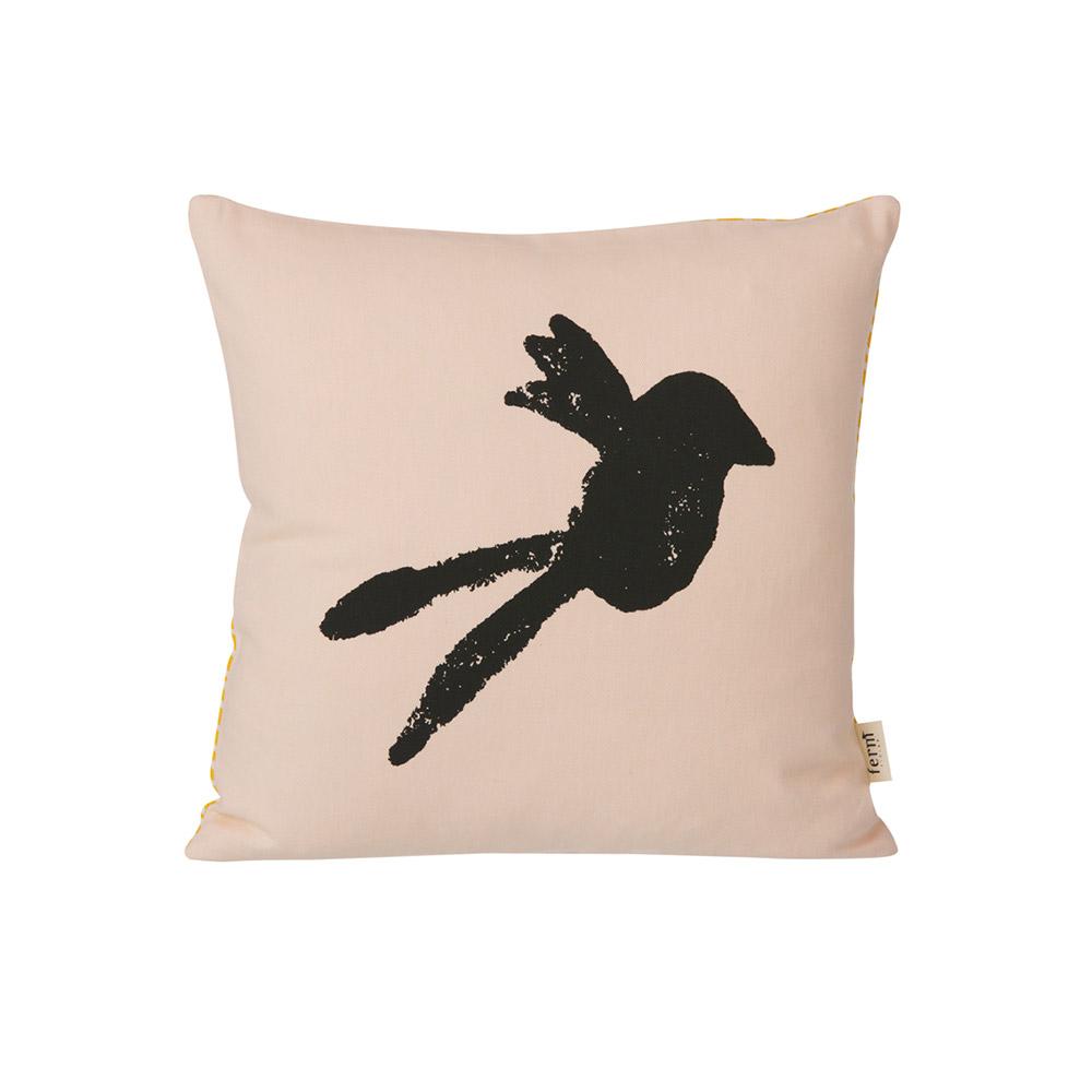 coussin oiseau rose ferm living pour chambre enfant les enfants du design. Black Bedroom Furniture Sets. Home Design Ideas