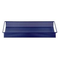 Plateau de rangement en métal L - Bleu