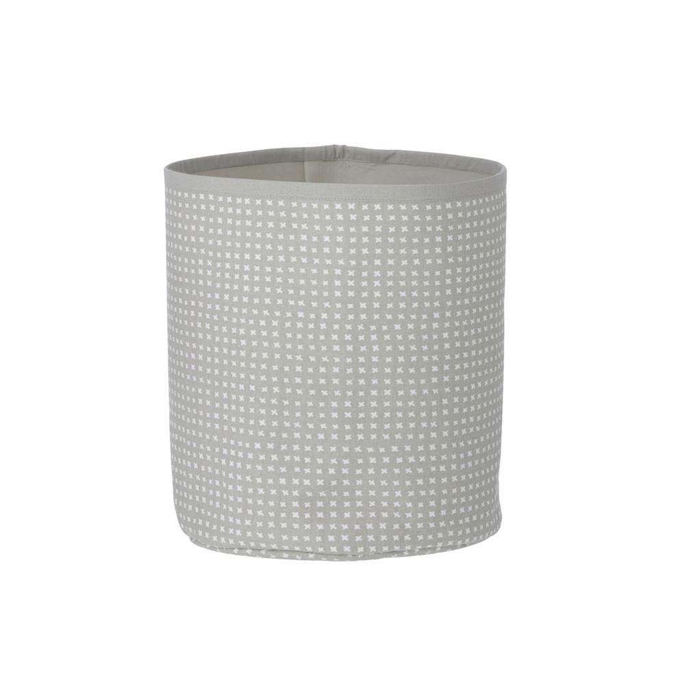 petit panier de rangement cross gris ferm living pour. Black Bedroom Furniture Sets. Home Design Ideas
