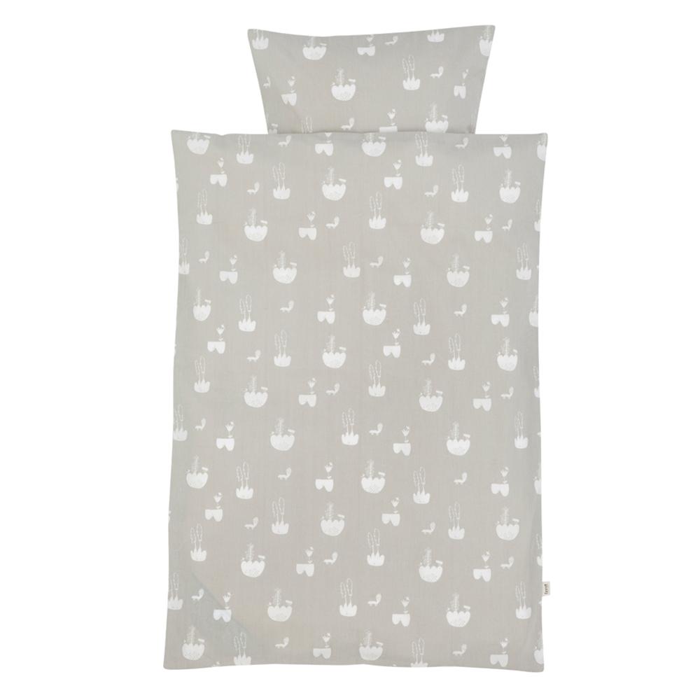 parure de lit paysages gris ferm living pour chambre. Black Bedroom Furniture Sets. Home Design Ideas