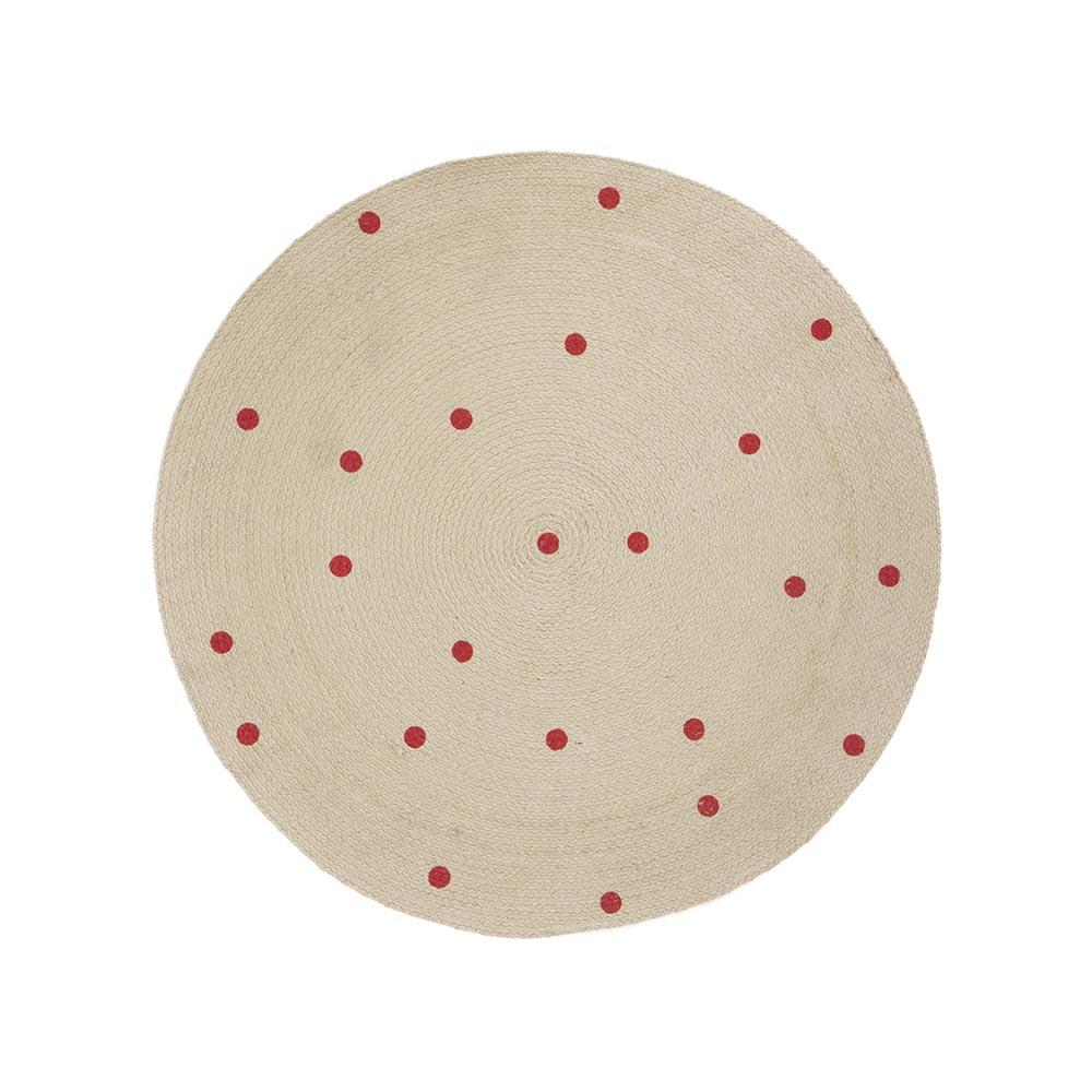 tapis points s rouge ferm living pour chambre enfant les enfants du design. Black Bedroom Furniture Sets. Home Design Ideas