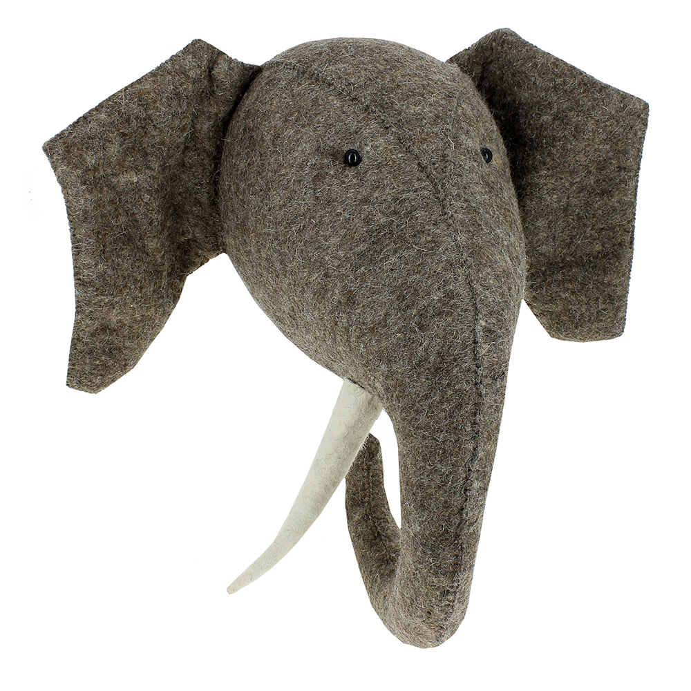 Troph e el phant fiona walker pour chambre enfant les for Decoration murale elephant
