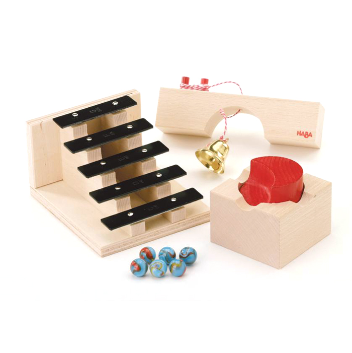 escalier sonore toboggan billes haba pour chambre enfant les enfants du design. Black Bedroom Furniture Sets. Home Design Ideas