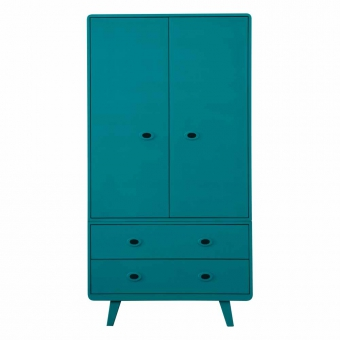 armoire toi et moi bleu canard laurette pour chambre. Black Bedroom Furniture Sets. Home Design Ideas