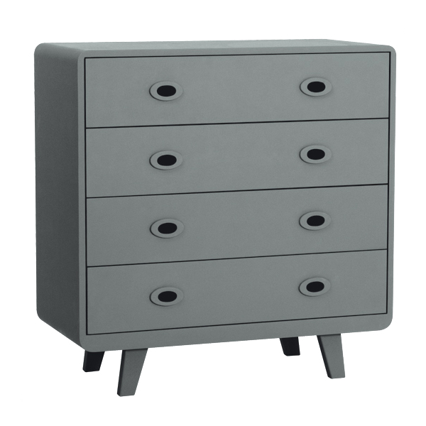 commode toi moi gris souris laurette pour chambre enfant les enfants du design. Black Bedroom Furniture Sets. Home Design Ideas