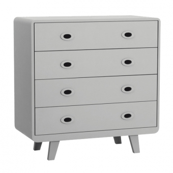 commode toi moi gris clair laurette pour chambre enfant les enfants du design. Black Bedroom Furniture Sets. Home Design Ideas