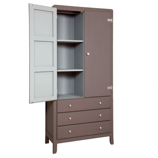 Chambre bebe leaf taupe - Armoire couleur taupe ...