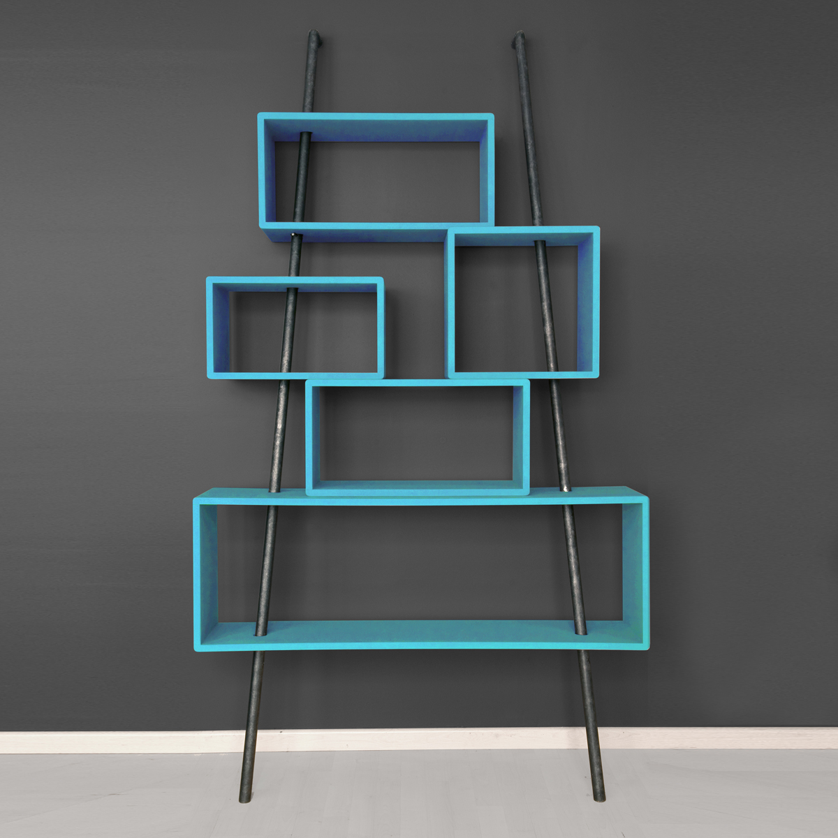 biblioth que la folie turquoise laurette pour chambre. Black Bedroom Furniture Sets. Home Design Ideas