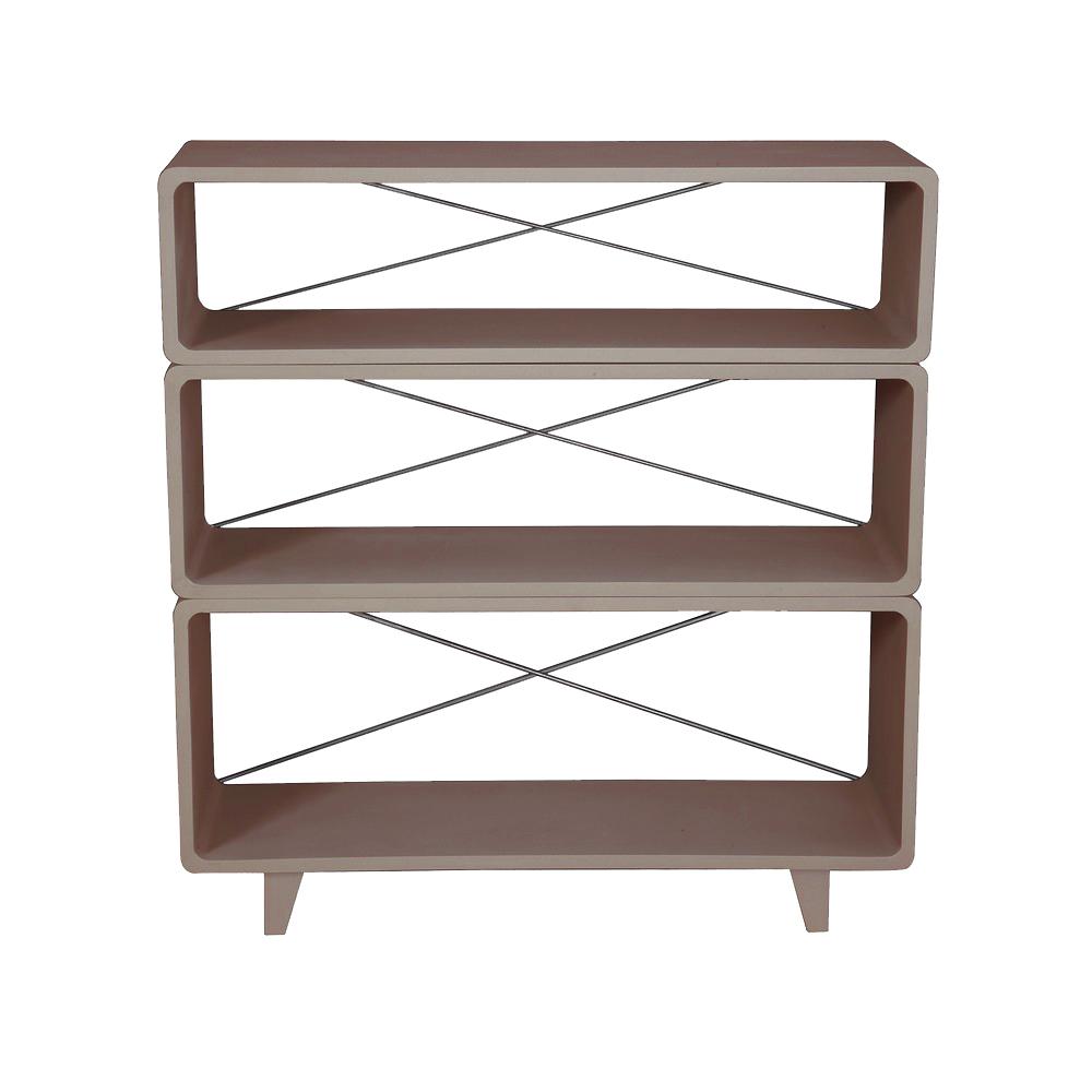 am nagement biblioth que taupe. Black Bedroom Furniture Sets. Home Design Ideas