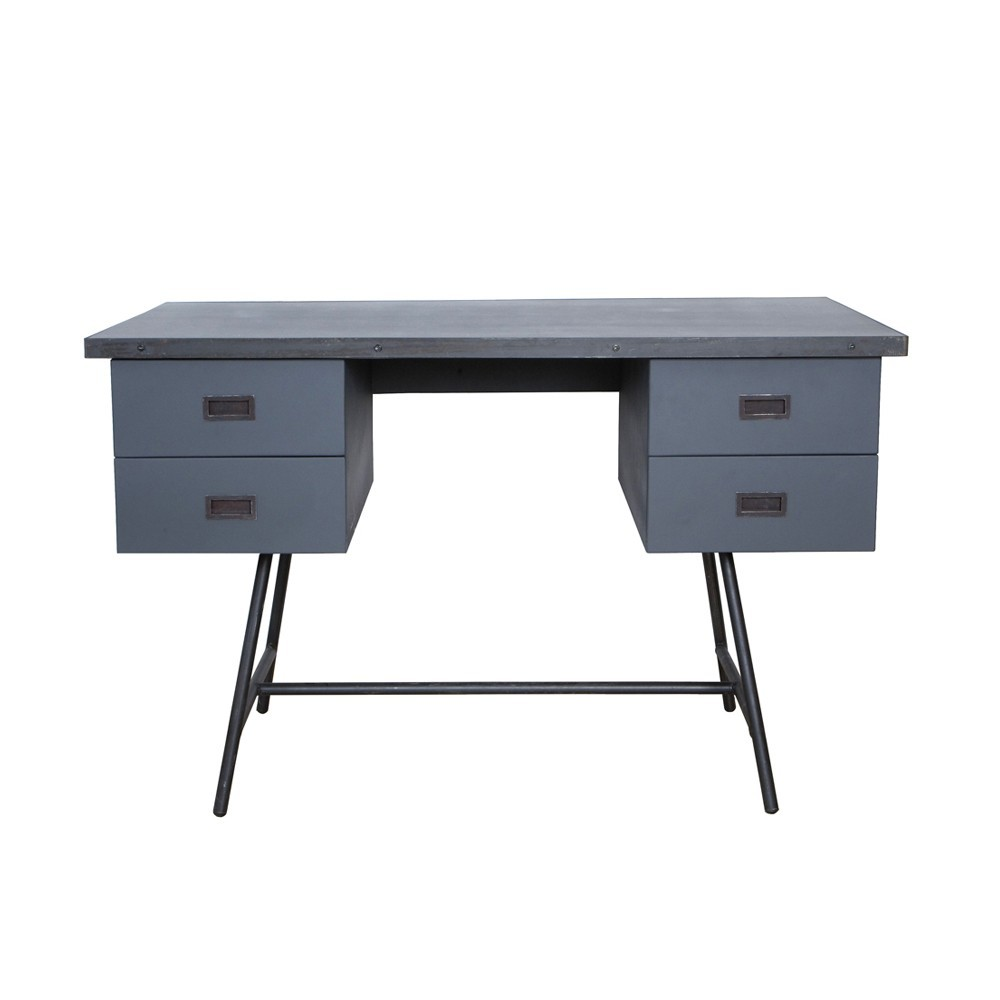 bureau l50 gris souris laurette pour chambre enfant les enfants du design. Black Bedroom Furniture Sets. Home Design Ideas