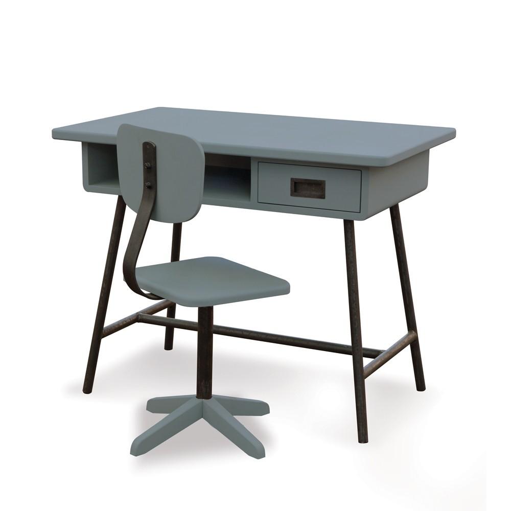Bureau la classe et chaise d 39 atelier gris souris - Chaise pour bureau enfant ...