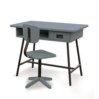 Bureau la Classe et chaise d'atelier - Gris souris