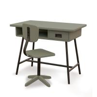 Bureau la Classe et chaise d'atelier Vert de Gris