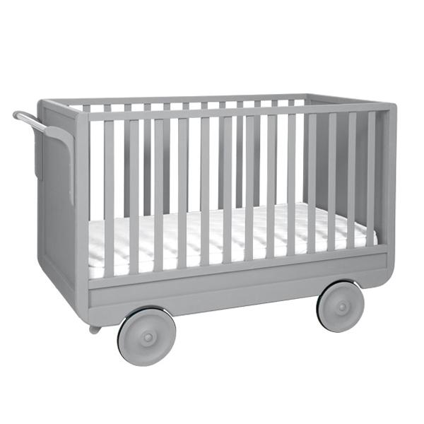 Lit roulotte volutif gris laurette pour chambre enfant les enfants du de - Lit roulotte laurette ...