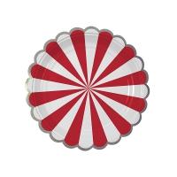 8 petites assiettes Cirque - Rouge