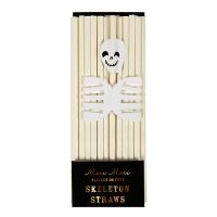24 pailles Squelettes Halloween