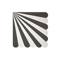 20 petites serviettes Cirque - Noir