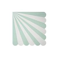 20 petites serviettes Cirque - Mint