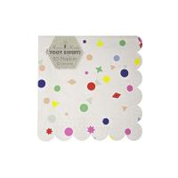 20 petites serviettes Confettis