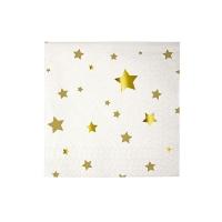 20 petites serviettes Etoiles - Or