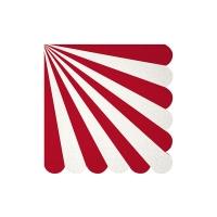 20 petites serviettes Cirque - Rouge