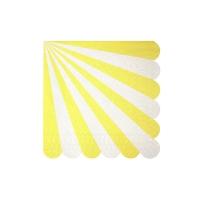 20 petites serviettes Cirque - Jaune