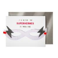 Carte d'anniversaire - Masque de Super-Héros