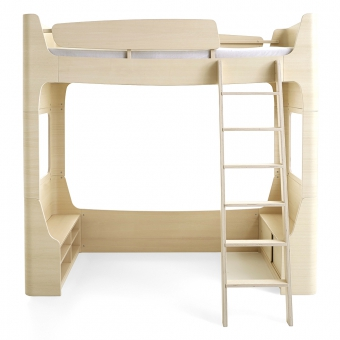 lit mezzanine mild wild naturel mildwild pour chambre enfant les enfants du design. Black Bedroom Furniture Sets. Home Design Ideas