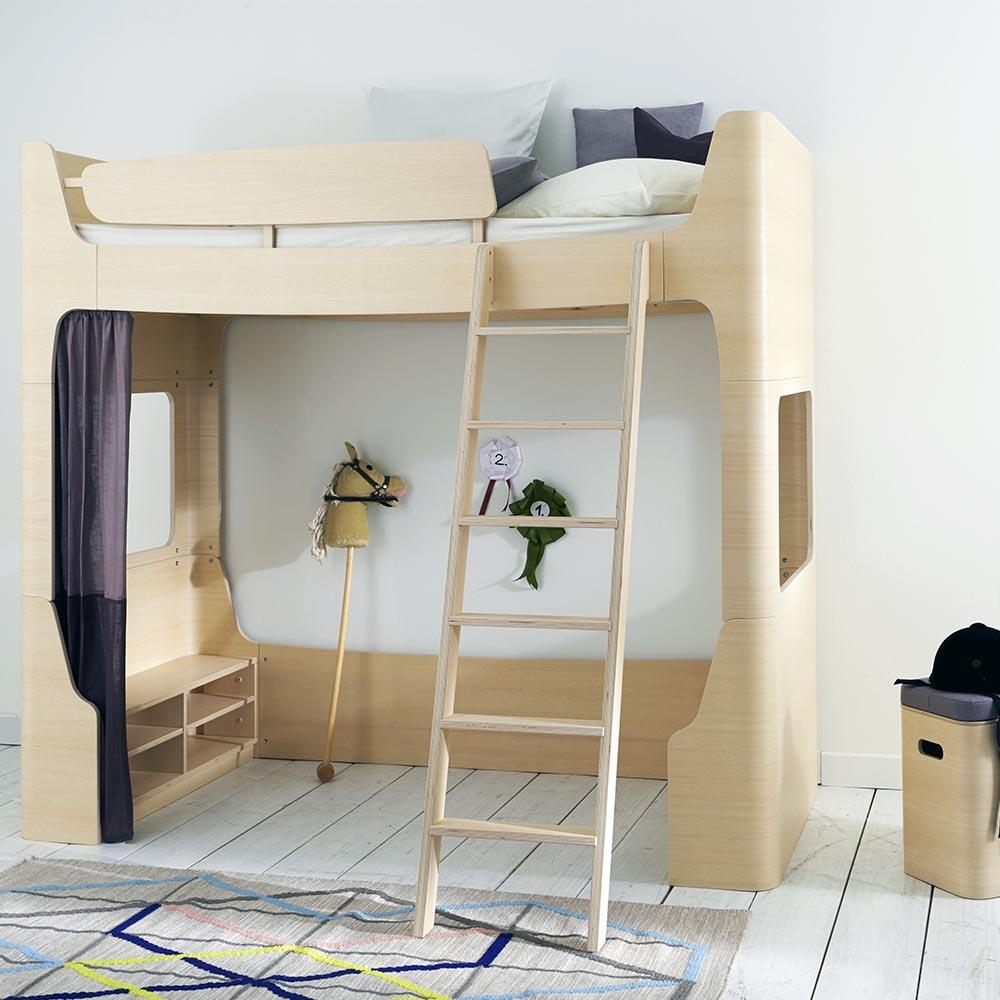 lit mezzanine mild wild - naturel mildwild pour chambre enfant - les