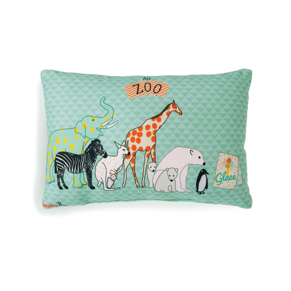Mini coussin zoo mimilou pour chambre enfant les enfants for Decoration chambre zoo