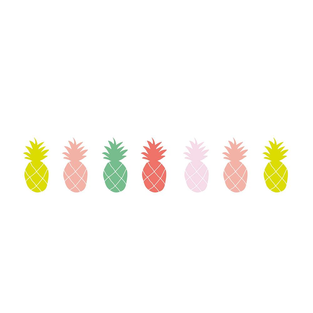 Sticker frise ananas mimilou pour chambre enfant les for Stickers murs deco