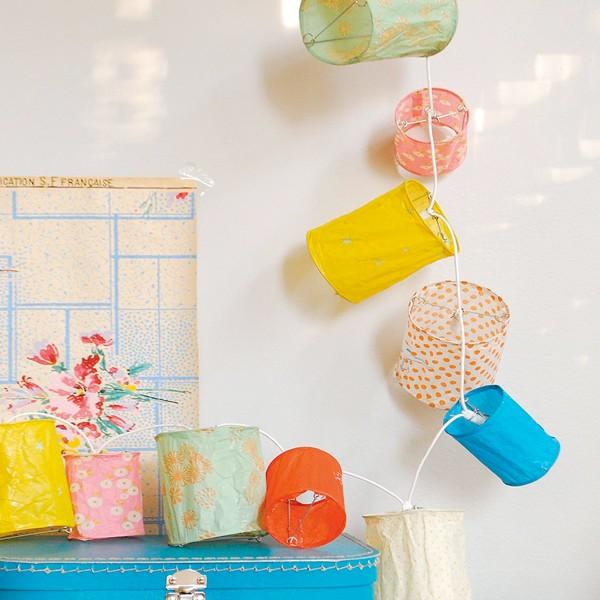 guirlande lumineuse lampions tout doux mimilou pour chambre enfant les enfants du design. Black Bedroom Furniture Sets. Home Design Ideas