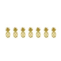 Sticker Frise Ananas dorés