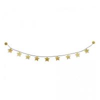 Kit guirlande étoiles dorées