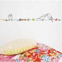 Sticker frise Perles et Oiseaux 5m