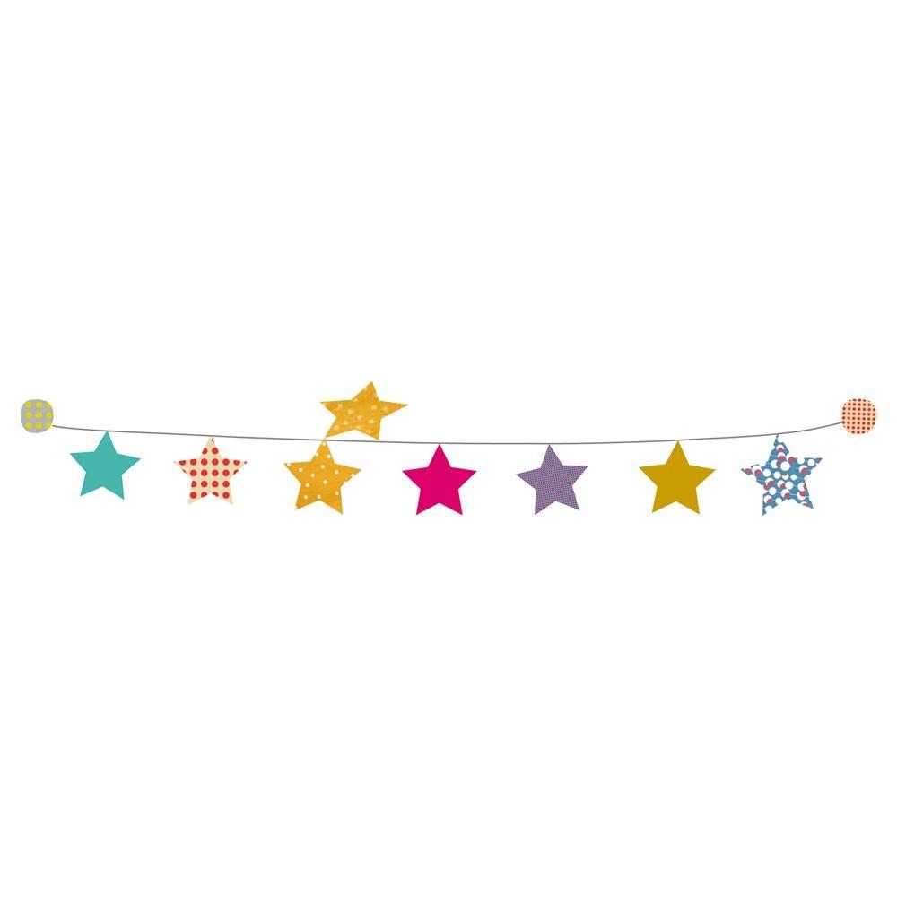 Kit guirlande toiles sticker mimilou pour chambre enfant les enfants du design - Dessin guirlande de noel ...
