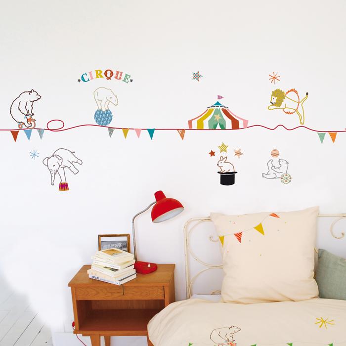 Stickers frise cirque mimilou pour chambre enfant les enfants du design - Les enfants du design ...