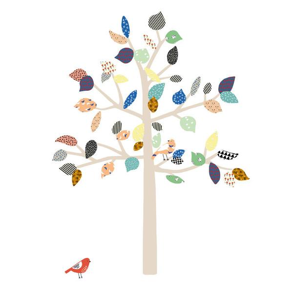 sticker big tree mimilou pour chambre enfant les enfants. Black Bedroom Furniture Sets. Home Design Ideas