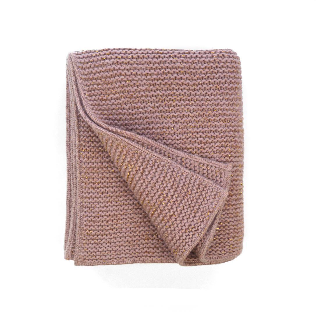plaid tricot iris rose poudr moon et miel pour. Black Bedroom Furniture Sets. Home Design Ideas