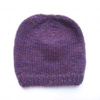 Kit de naissance tricoté irisé - Violet