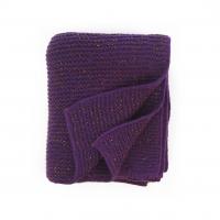 Plaid tricoté irisé - Violet