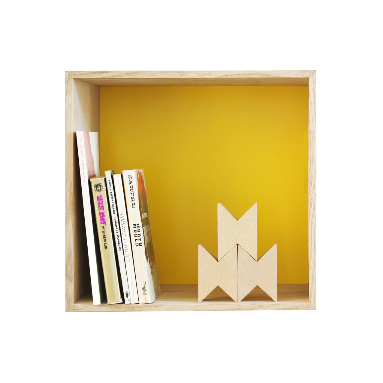 Etagère mini stacked m   frêne/jaune muuto pour chambre enfant ...