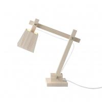 Lampe de bureau Wood - Fil blanc