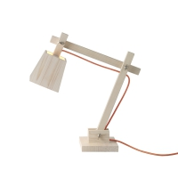 Lampe de bureau Wood - Fil orange