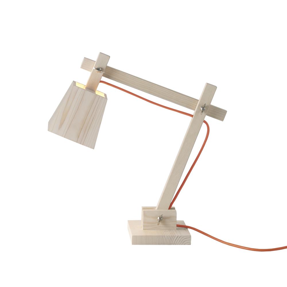 Lampe de bureau wood fil orange muuto pour chambre enfant les enfants du design for Lampe de bureau pour fille