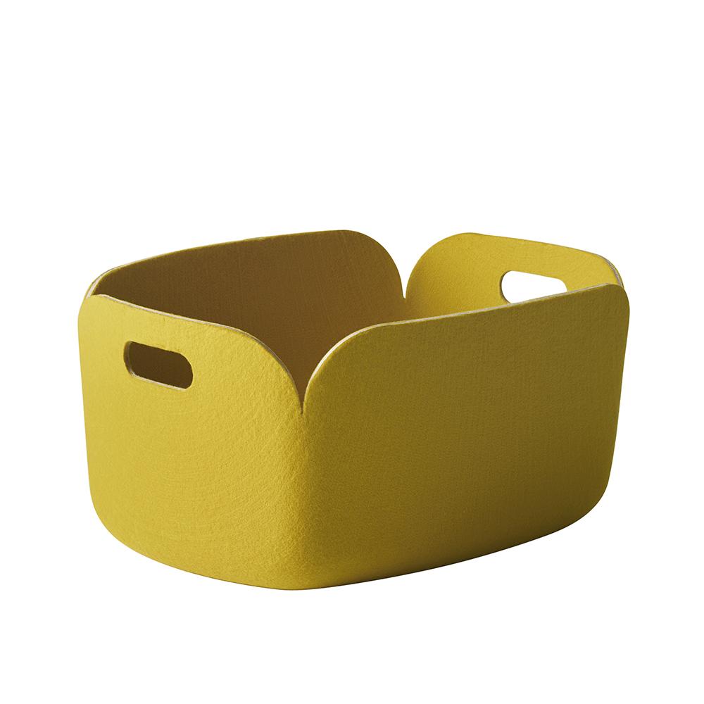 Panier de rangement restore jaune muuto pour chambre - Panier rangement enfant ...