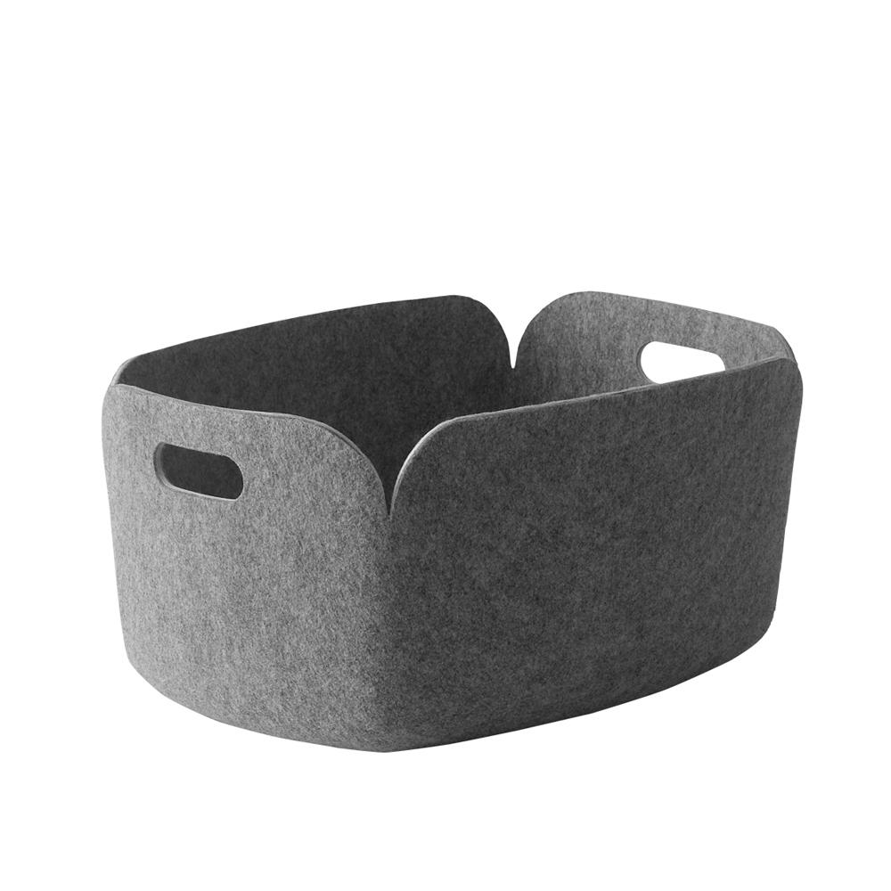 panier de rangement restore gris muuto pour chambre enfant les enfants du design. Black Bedroom Furniture Sets. Home Design Ideas