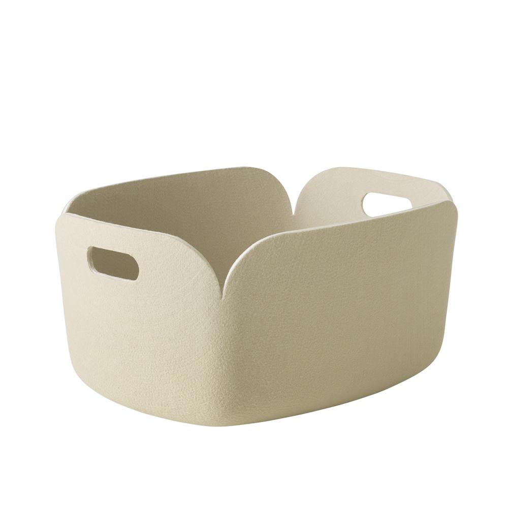 panier de rangement restore sable muuto pour chambre. Black Bedroom Furniture Sets. Home Design Ideas