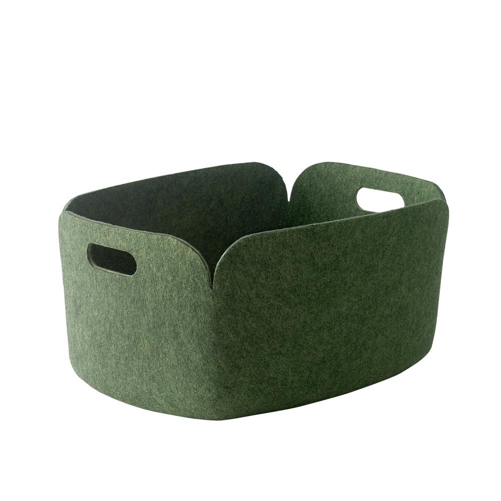 panier de rangement restore vert muuto pour chambre. Black Bedroom Furniture Sets. Home Design Ideas